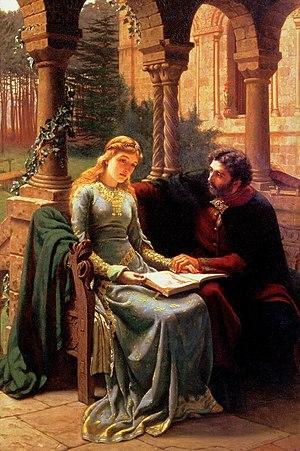 Eloisa to Abelard - Abelard and his pupil Heloise by Edmund Leighton, 1882