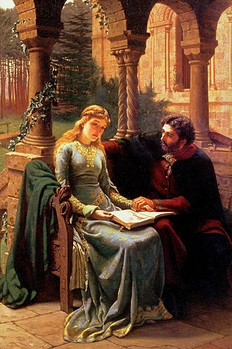 Héloïse - Abelard and his pupil Heloise by Edmund Leighton, 1882