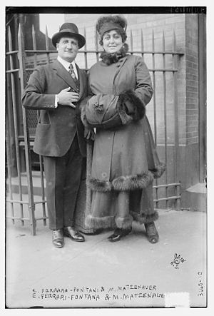 Margaret Matzenauer - Edoardo Ferrari-Fontana and Margaret Matzenauer in 1915 at the Metropolitan Opera