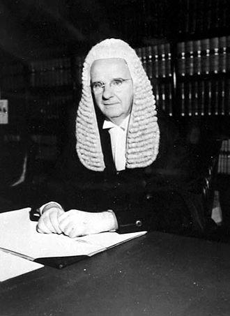Edward McTiernan - McTiernan in his chambers, 1954.