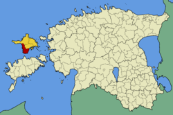 Emmaste Parish within Hiiu County.