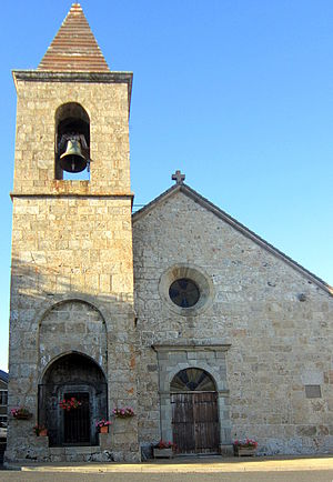 Sainte-Eulalie, Ardèche - The church in Sainte-Eulalie