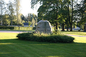 Eidsivating - Memorial stone marking the site of the historic Eidsivating at Eidsvoll