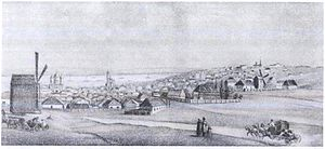 Helena Blavatsky - An illustration of Yekaterinoslav—Blavatsky's birthplace—as it appeared in the early 19th century