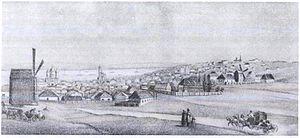 Helena Blavatsky - An illustration of Yekaterinoslav—Blavatsky's birthplace—as it appeared in the early 19th century