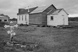 National Register of Historic Places listings in Bristol Bay Borough, Alaska - Image: Elevation Of The Holy Cross Church, South Naknek, Alaska