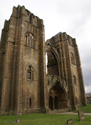 Pylon (architecture) - Elgin Cathedral, western front