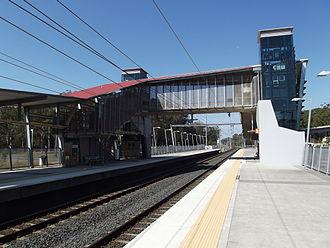 Sunshine Coast railway line - Elimbah station in September 2012