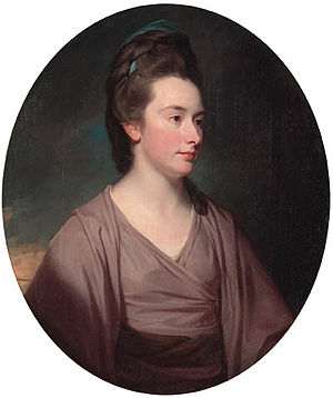 Elizabeth Lamb, Viscountess Melbourne - Portrait by George Romney