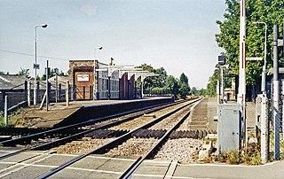 Elmswell railway station Railway station in Suffolk, England