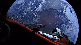 2018 in spaceflight - Image: Elon Musk's Tesla Roadster (40143096241)