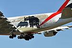 Emirates, Airbus A380-861, A6-EDG - FCO (25195489306).jpg