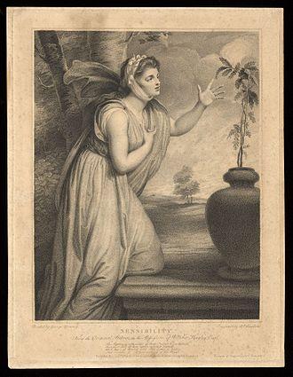 Sensibility - Image: Emma Hamilton...Stipple engraving, 1789. Wellcome L0075392