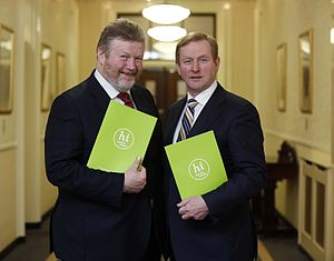 James Reilly (Irish politician) - Minister Reilly with Taoiseach Enda Kenny in March 2013