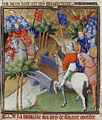 England and France at war - Grandes Chroniques de France (c.1415), f.40v - BL Cotton MS Nero E II.jpg