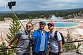 Enjoying the view from Grand Prismatic Spring Overlook Trail (37109254135).jpg
