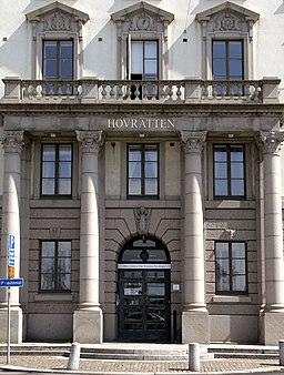 Hovedindgangen til Hofretten ved Packhusplatsen