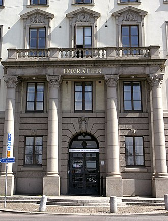Hovrätt - The Court of Appeal for Western Sweden (Hovrätten för Västra Sverige) in Gothenburg.