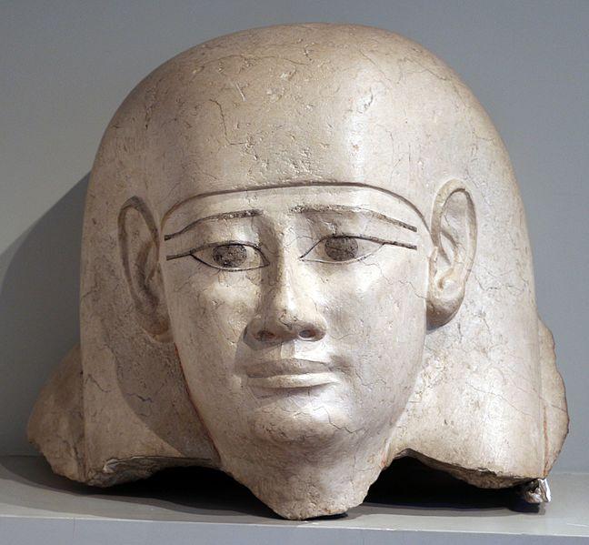 File:Epoca tolemaica, frammento di coperchio di sarcofago, II secolo ac.jpg
