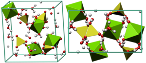 Epsomite - Crystal structure of epsomite