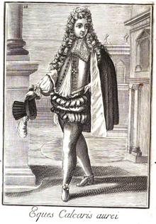 Eques Calcaris aurei, Bonanni 1724. s.  XVI.png