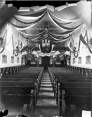 Zoetermeer - Interior of the Nicolaaskerk in Zoetermeer, 1869
