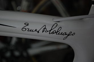 Colnago - The signature of Ernesto Colnago, which appears as a decal on all new Colnago bicycles, except the special Ferrari versions.