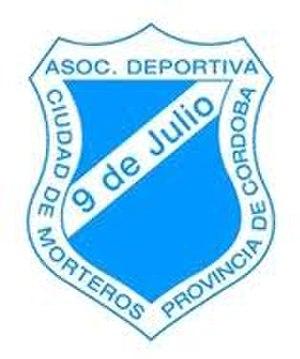 9 de Julio de Morteros - Image: Escudo Asociación Deportiva 9 de Julio de Morteros