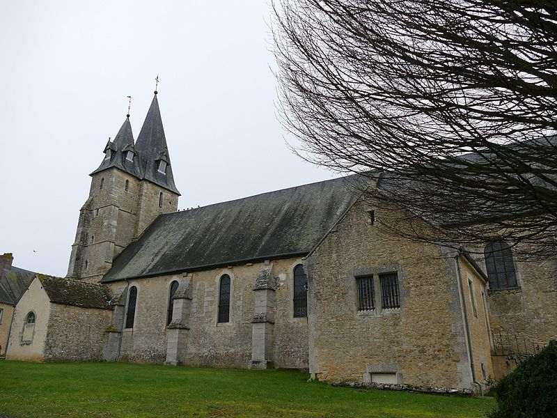 Saint-Peter-and-Saint-Paul's church in Essay (Orne, Normandie, France).