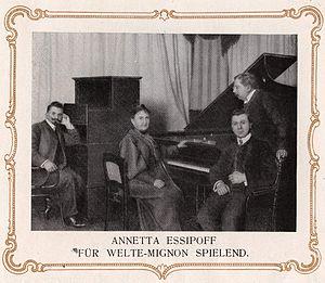 Anna Yesipova - Anna Yesipova playing for Welte-Mignon February 7, 1906.