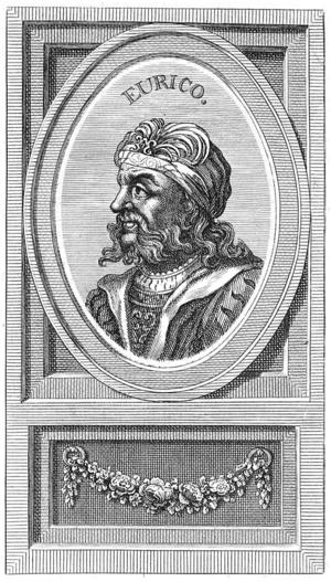 Euric - Illustration of Euricat Biblioteca Nacional de España