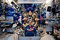 Expedition 59 crew members in their crew quarters.jpg