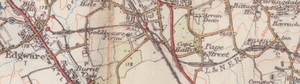 Edgware, Highgate and London Railway - 1930 OS map showing branch from Mill Hill East to Edgware