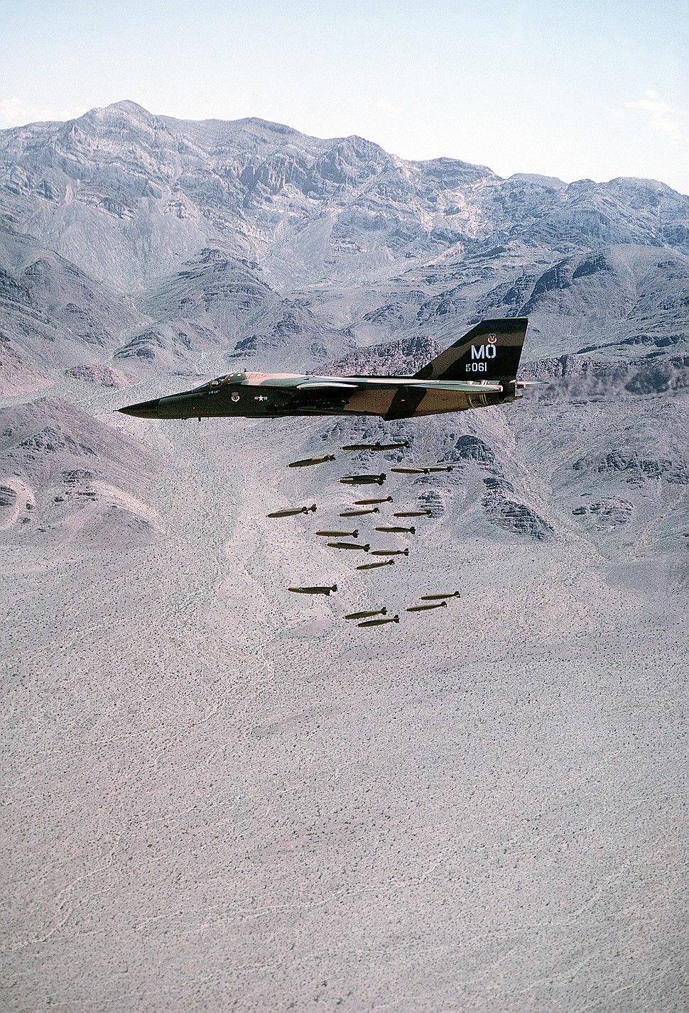 F-111A dropping MK82