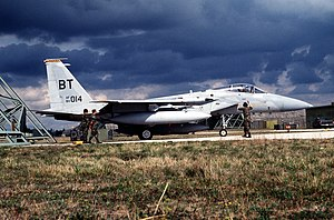 Operation Deny Flight - Image: F 15C 53FS 36FW Aviano 1993