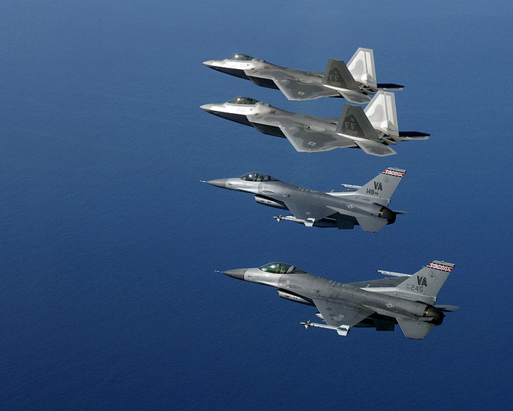 File:F-22As with Virginia ANG F-16Cs 2006.JPEG