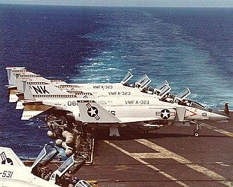 VMFA-323 - Image: F 4Ns VMFA 323 CV 43 1979 80