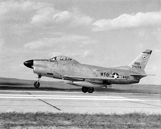 North American F-86D Sabre - A Wyoming Air National Guard F-86L in the late 1950s.