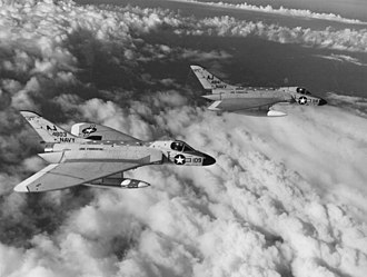Douglas F4D Skyray - Formation of two VF-102 F4D-1 Skyrays
