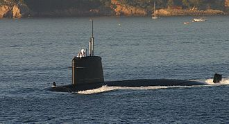 Submarine forces (France) - A Rubis-class French submarine, Le Saphir