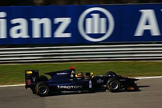 Fairuz Fauzy - Fairuz driving for Super Nova at the Monza round of the 2011 GP2 Series season.