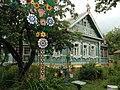 Fachada de una casa de campo típica rusa del s. XIX y anteriores.jpg