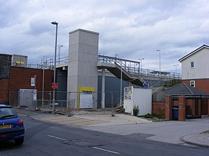 Failsworth tram stop - Image: Failsworth Metrolink station construction