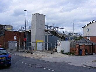 Failsworth tram stop - Image: Failsworth Metrolink station construction