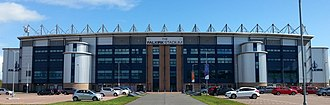 Falkirk Stadium - The facade of the West Stand