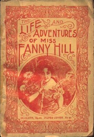 Obscenity - Cover of an undated American edition of Fanny Hill, ca. 1910
