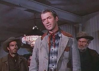 The Far Country - Jack Elam, James Stewart, and Jay C. Flippen