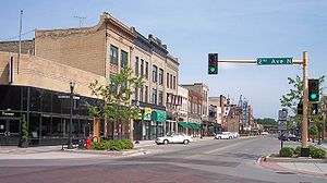 Broadway in downtown Fargo in 2007
