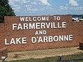 Farmerville, LA, welcome sign IMG 3845.JPG