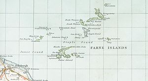 Farne Islands - A map of Farne Islands in 1947